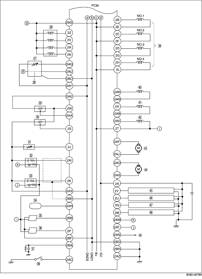 Engine Control System Wiring Diagram  Zj  Z6