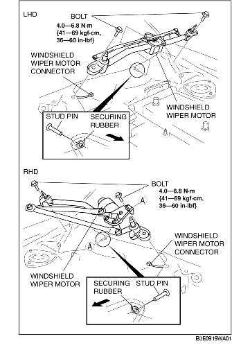 how to remove a wiper motor